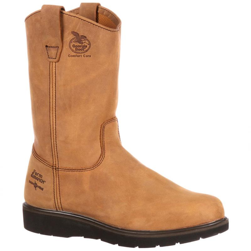 Georgia Boot Mens Farm and Ranch Wellington Work Boots
