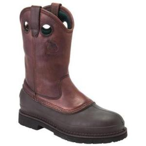 Georgia Men's  11in. Waterproof Steel Toe Pull-On Muddog Boot