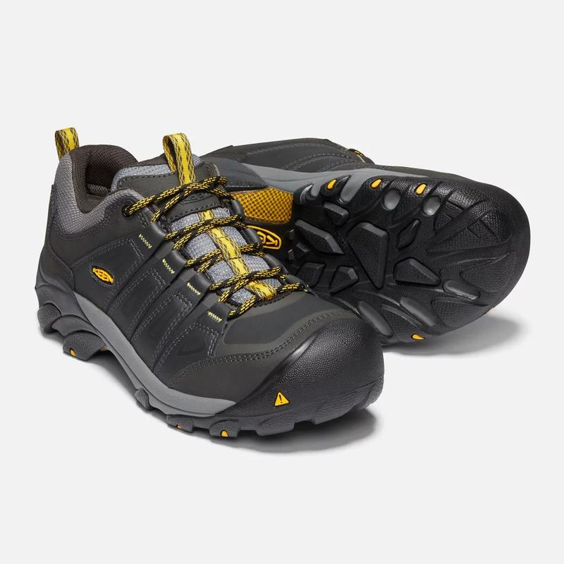 da309354427 Keen Men's Boulder Waterproof Steel Toe Shoes