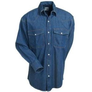 KEY Men's Denim Long Sleeve Shirt