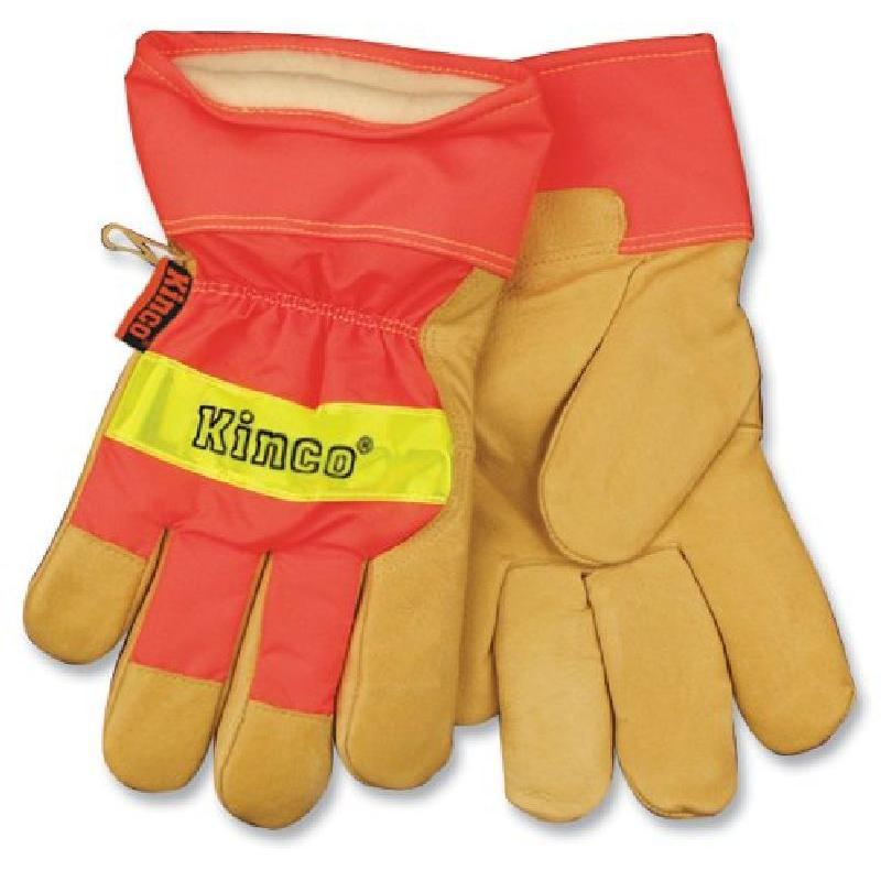 Kinco Hi-Vis Insulated Pigskin Leather Palm Cuffed Glove
