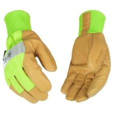 Kinco Insulated Hi-Visibility Waterproof Leather Work Gloves 1939KWP