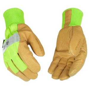 Kinco Insulated Hi-Visibility Waterproof Leather Work Gloves