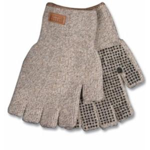 Kinco Unlined Half Finger Ragg Wool Gloves with PVC Dots