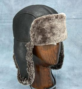 Northern Hats Classic Leather Aviator Hat with Sherpa Lining (17K) 201752e9e9