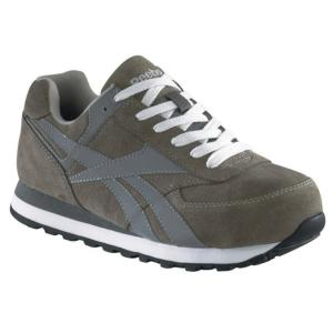 Reebok Womens Retro Suede Steel Toe Jogger Oxford Shoe