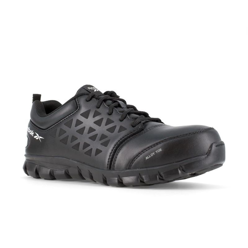 Leather Black Alloy Toe Work Shoe RB4047