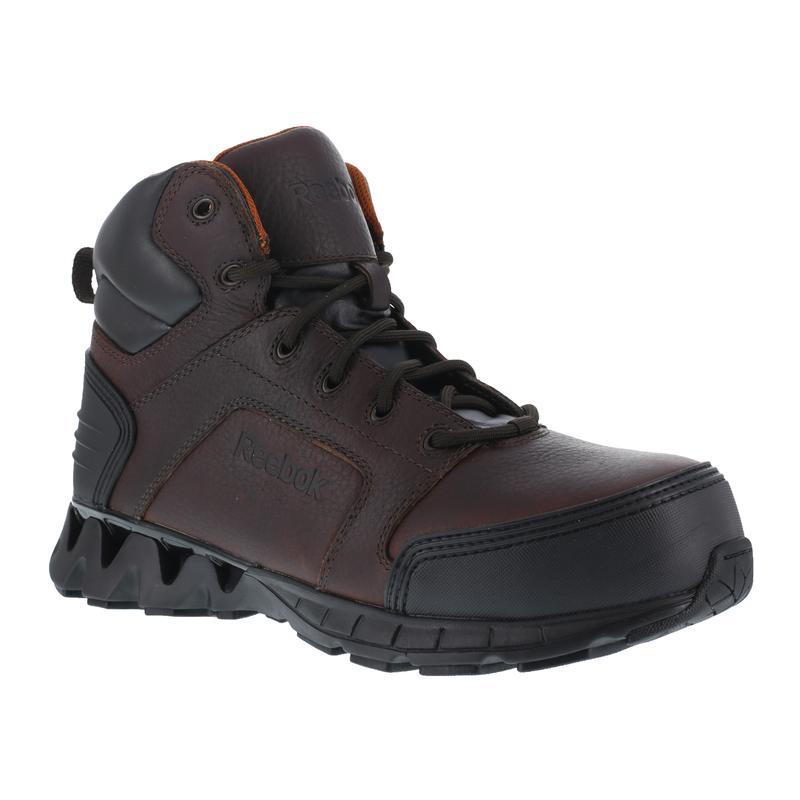 346acd12775 Reebok Men's Zigkick Brown 6in Composite Toe Work Boot