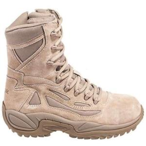Reebok Mens Rapid Response 8 in.Side Zip Composite Toe Desert Boot