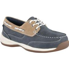Rockport Works Women's Sailing Club 3 Eye Tie Steel Toe Boat Shoe RK670