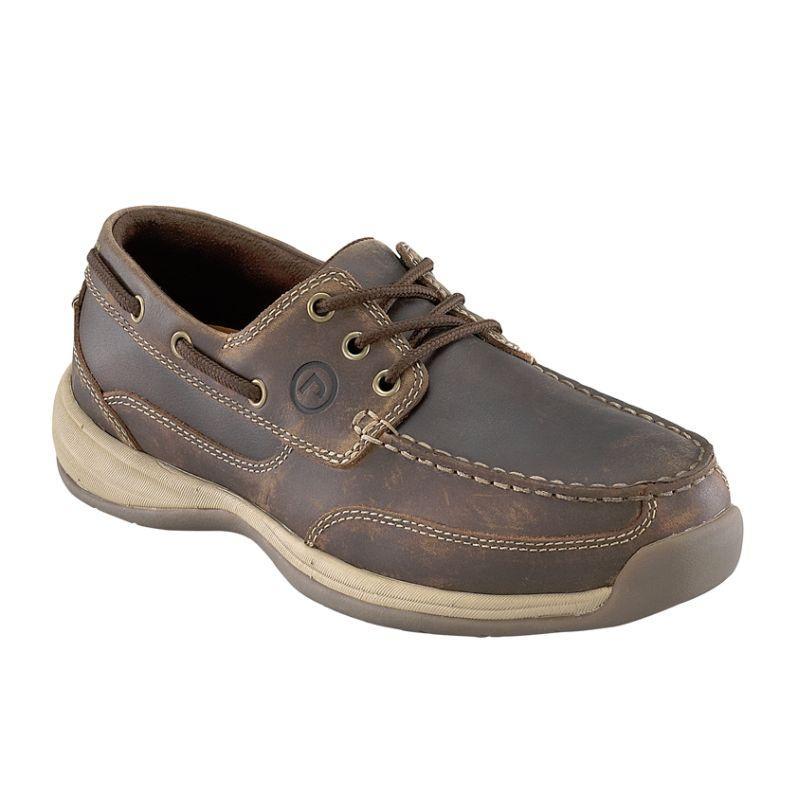 Rockport Men's Sailing Club 3 Eye Tie EH Steel Toe Boat Shoe