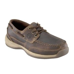 Rockport Works Men's Sailing Club 3 Eye Tie EH Steel Toe Boat Shoe