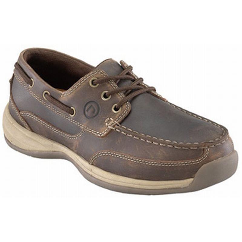Rockport Women's Sailing Club 3 Eye Tie Steel Toe Boat Shoe