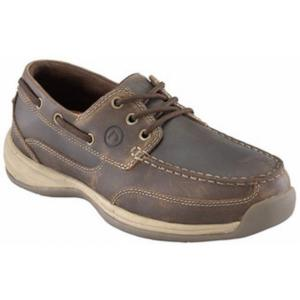 Rockport Works Women's Sailing Club 3 Eye Tie Steel Toe Boat Shoe