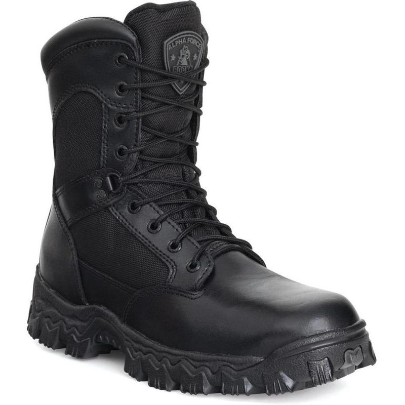 Rocky Men's  8 in. Side Zip Waterproof Composite Toe Boots