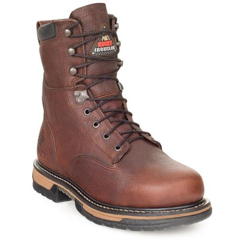 Rocky Men's 8in. Steel Toe IronClad Work Boots