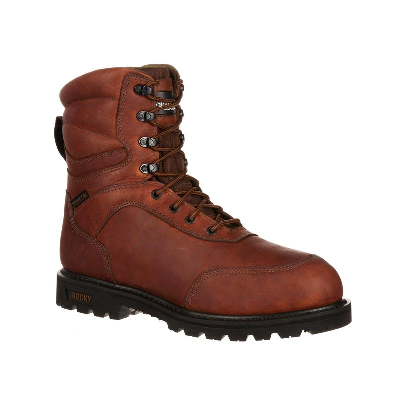 Rocky Mens Brute 9in. Waterproof Insulated Outdoor Boots