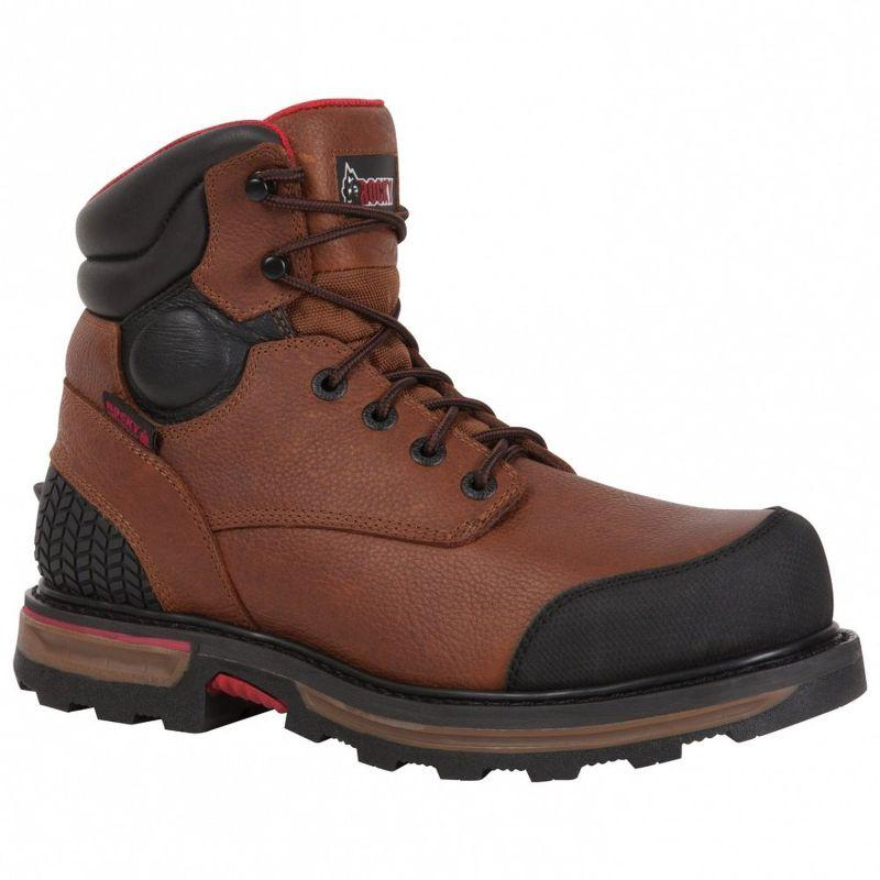 Rocky Mens Elements Dirt Steel Toe Waterproof Work Boots