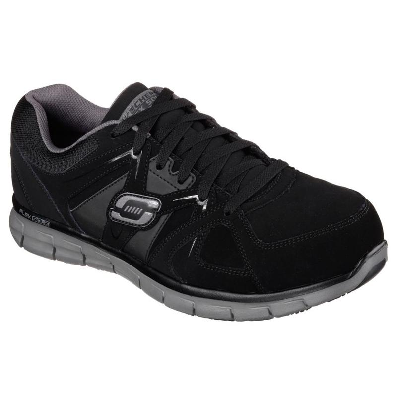 skechers s steel toe synergy work shoe 77068