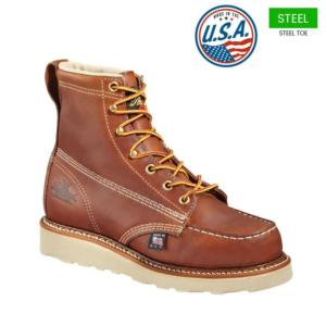 Thorogood Men's 6 in. American Heritage Wedge Moc Safety Toe Boot-USA Made
