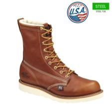 Thorogood Men's 8 in. American Heritage Safety Toe Boots-USA Made 804-4364