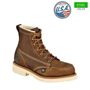 0a7dc881a6e 804-4375. Thorogood Men s 6 in. Am. Heritage Steel Moc Toe Work Boots ...