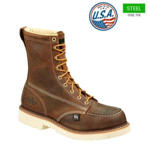 Thorogood Men's 8 in. American Heritage Moc Steel Toe Boots-USA Made