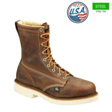 Thorogood_Thorogood Men's 8 in. American Heritage Plain Steel Toe Boots-USA Made