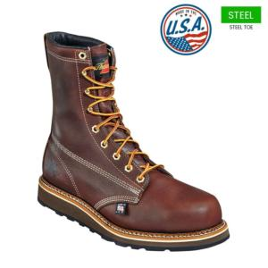 Thorogood Men's 8 in. American Heritage Plain Safety Toe Boots-USA MADE