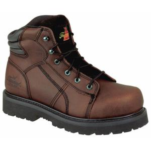 Thorogood Men's 6 in. Brown Lace-to-Toe Semi-Oblique Steel Toe