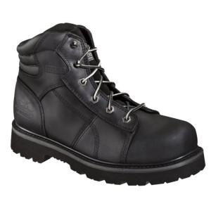 Thorogood Men's 6 in. Black Lace-to-Toe Semi-Oblique Steel Toe