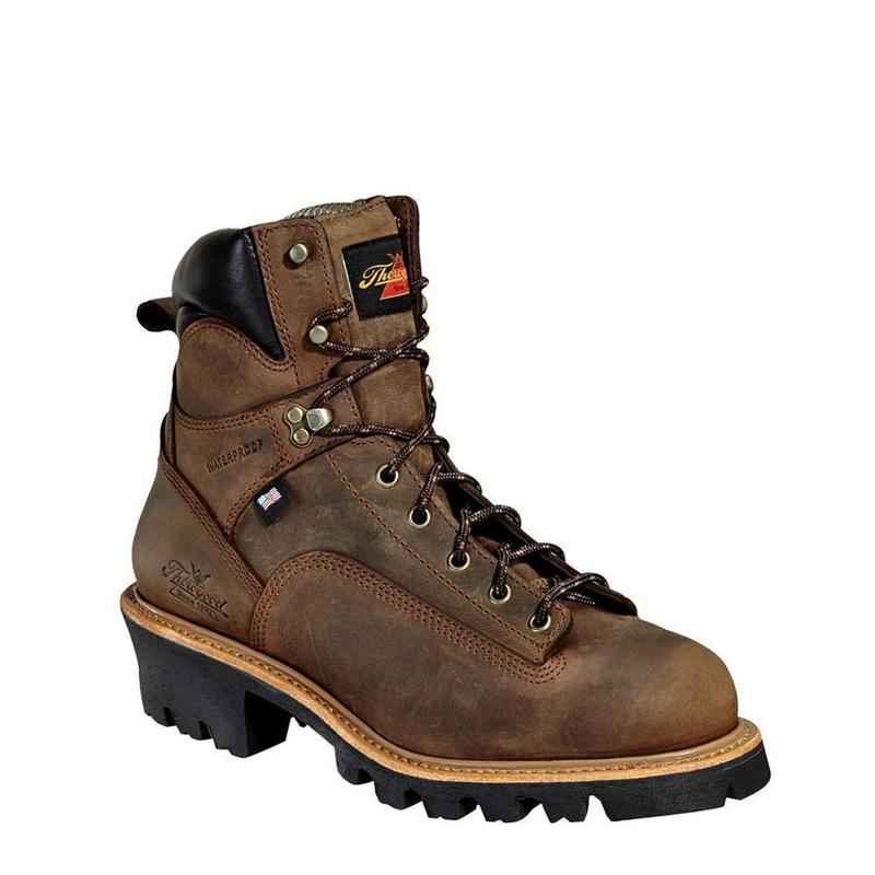487681c596b Thorogood Men's 6 in. Waterproof Lace-to-Toe Logger Boots (U.S.A.)