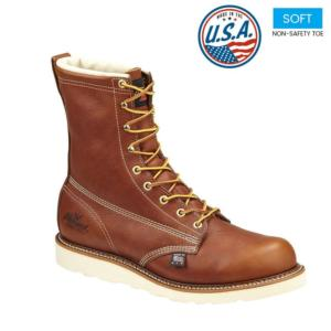 Thorogood Men's 8 in. American Heritage Waterproof Insulated Plain Toe Boots-USA Made