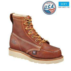 Thorogood Men's 6 in. American Heritage Wedge Moc Soft Toe Boot-USA Made