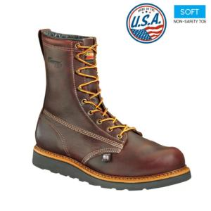 Thorogood Men's 8 in. American Heritage Wedge PlainToe Boot-USA Made