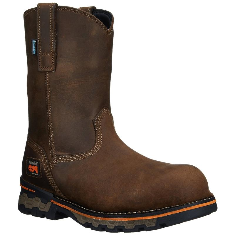 timberland mens ag alloy toe pull on work boots 1053a
