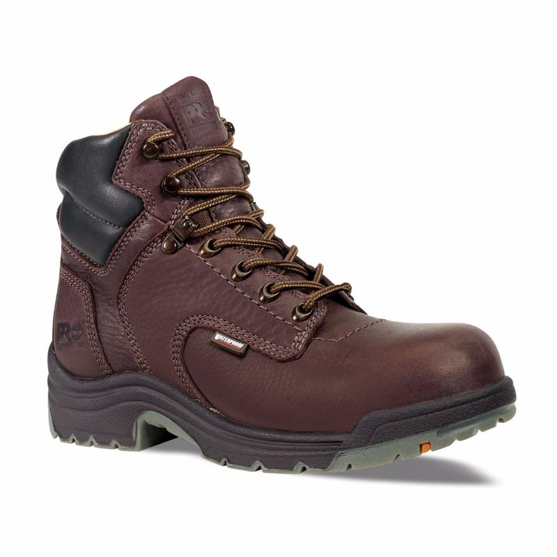 Timberland Men's Pro 6 inch TiTAN WP Safety Toe Boots