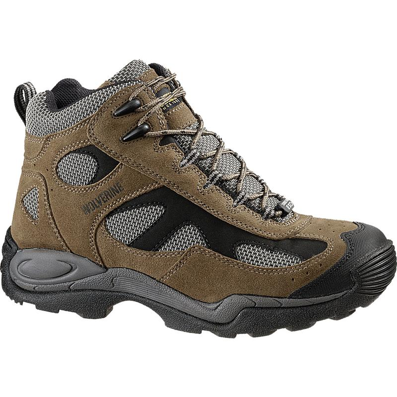 Wolverine Mens Slip Resistant Steel Toe Mid Athletic Boots