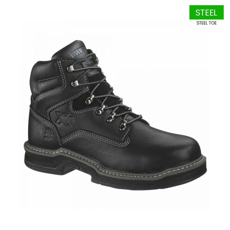 wolverine s 6 inch steel toe eh black boots w02420
