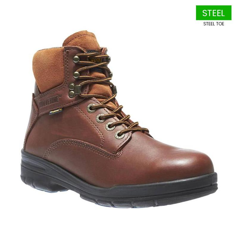 Wolverine Men's 6 in.  DuraShocks  Steel-Toe EH Work Boots