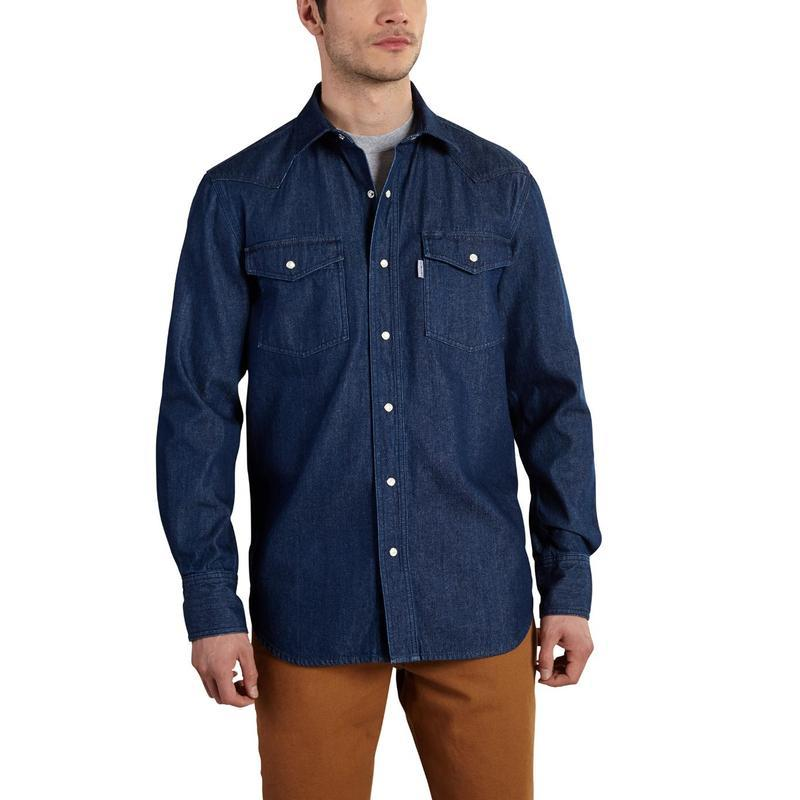 carhartt men 39 s ironwood denim work shirt 100083