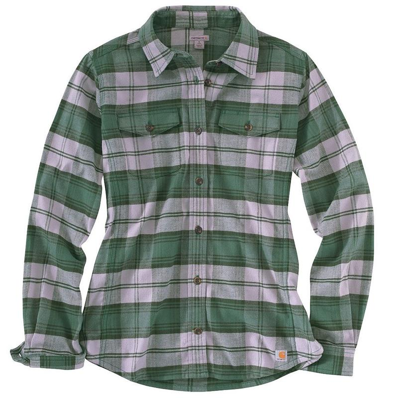 Carhartt women 39 s hamilton flannel shirt closeout 100714co for 9 oz flannel shirt