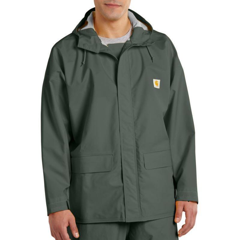 Carhartt Light Work Jacket: Carhartt Men's Mayne PVC Rain Coat 101076