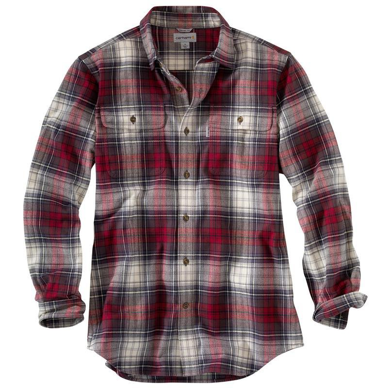 Carhartt Mens Hubbard Flannel Plaid Shirt 101749