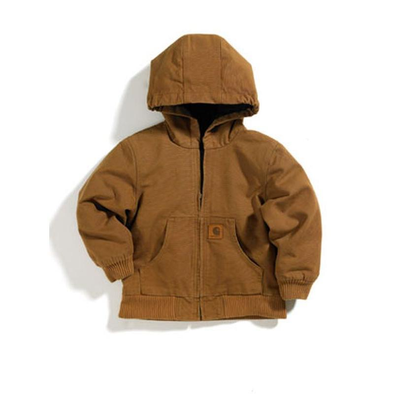 Carhartt Infant Boy S Hooded Quilted Flannel Lined Jacket