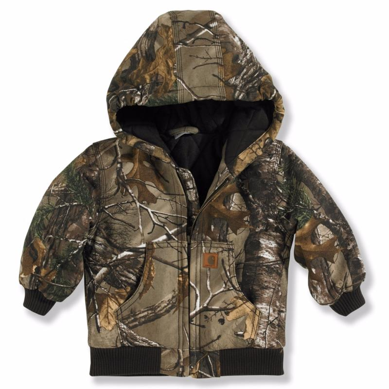 Carhartt Toddler Boys Camo Hooded Flannel Quilt Lined
