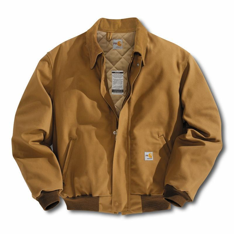 Carhartt Flame Resistant Duck Bomber Jacket Quilt Lined Frj195
