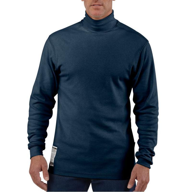 Carhartt men s flame resistant long sleeve mock turtleneck for Turtle shirts for men