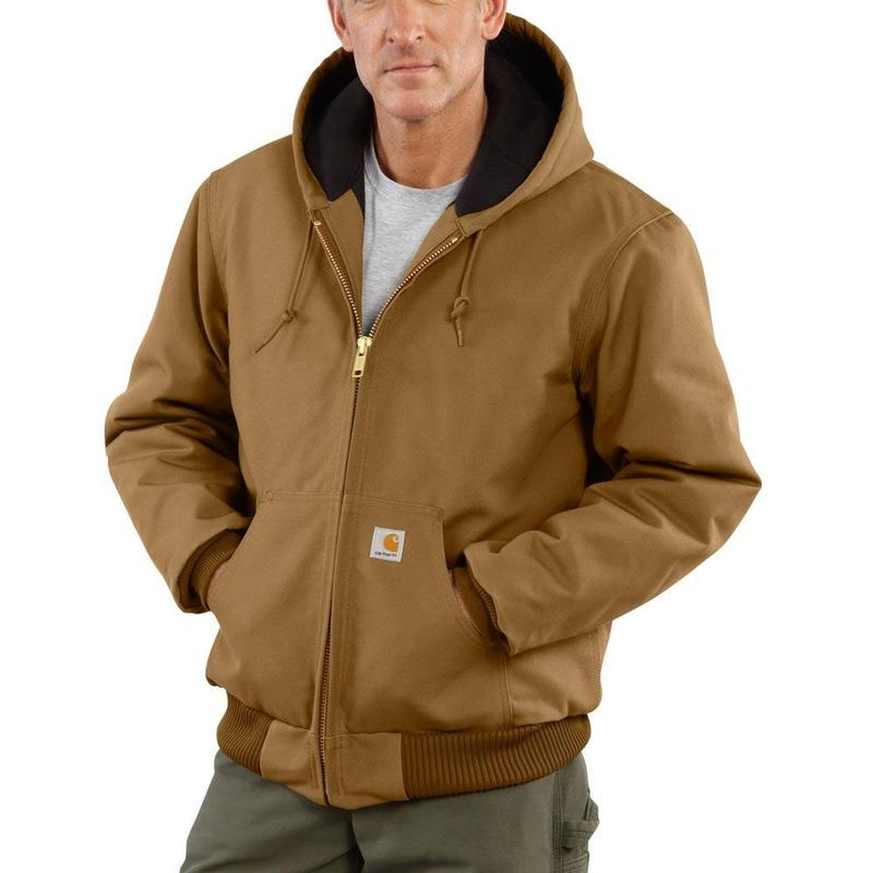Carhartt Men S Duck Quilted Flannel Lined Active Jac