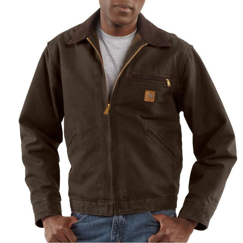 Carhartt men s sandstone duck detroit jackets blanket